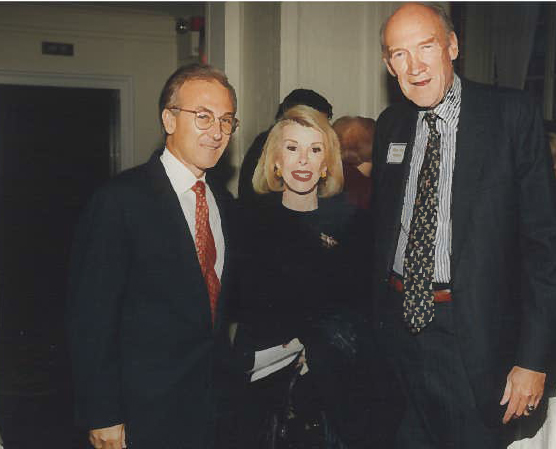 With Ms. Joan Rivers & US Senator Alan K. Simpson (Wyoming) 1996 NYC